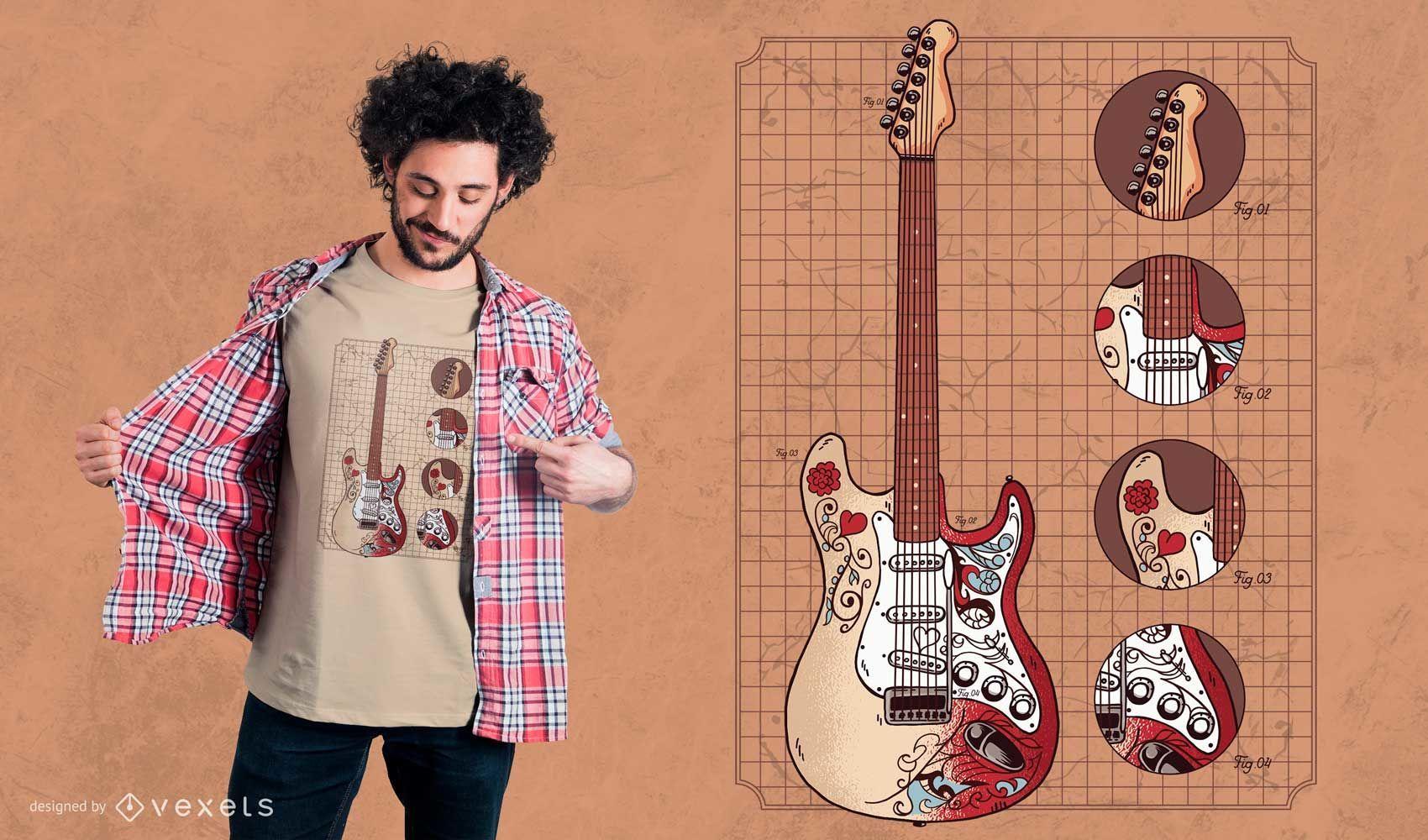 Monterey Stratocaster Guitar Illustration