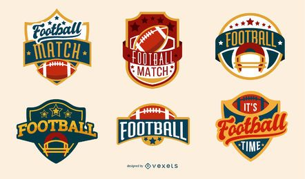 American Football Badges Set