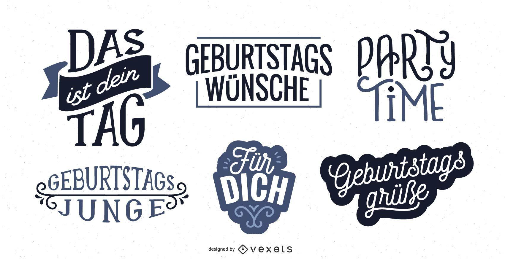 Cumpleaños letras alemán conjunto