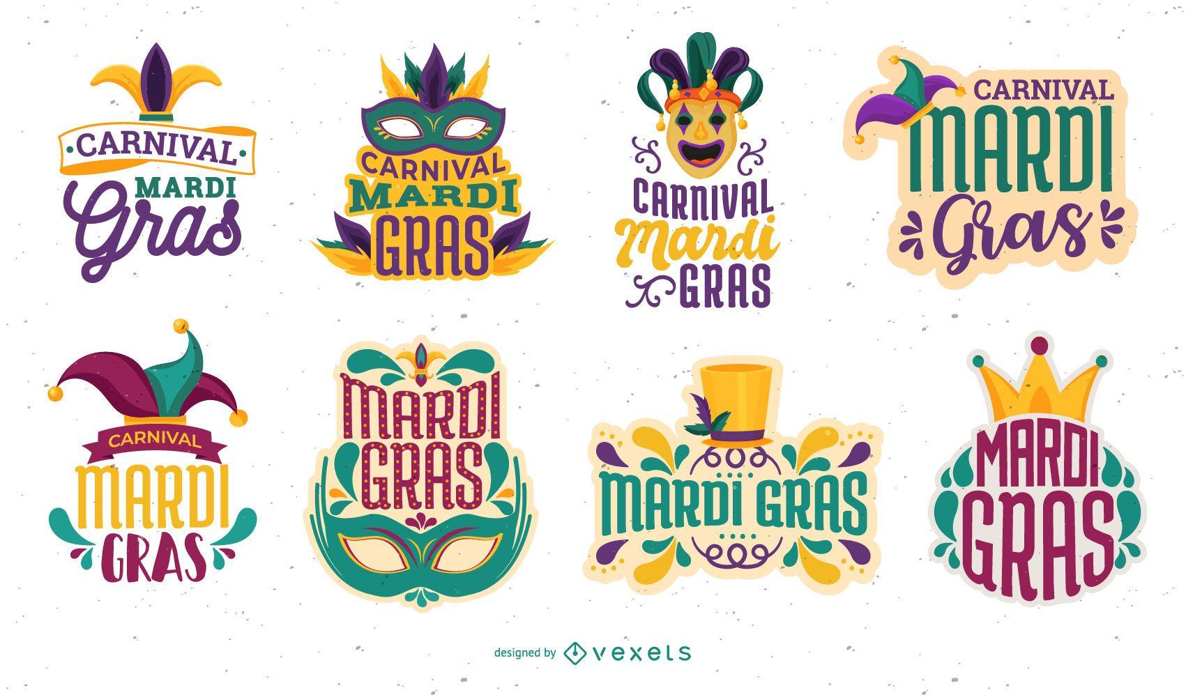 Mardi Gras Lettering Set