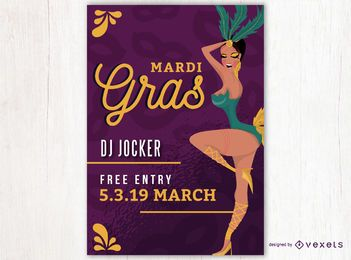 Mardi Gras Dance Poster Design