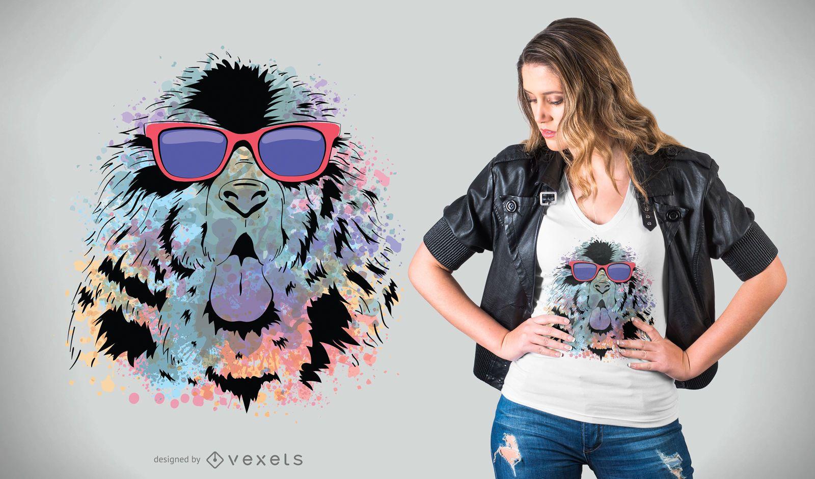 Newfoundland Cool Dog T-Shirt Design