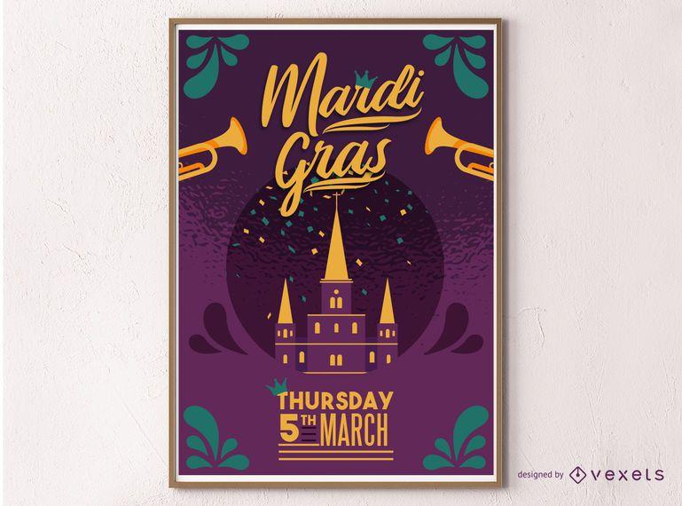 Mardi Gras Masquerade Poster Design