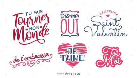 French Valentine's Day Lettering Design