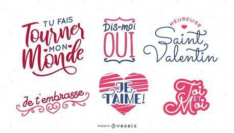 Projeto de rotulação de dia dos namorados francês