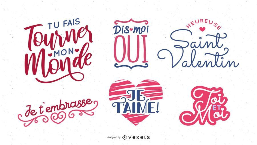 Französische Valentinstag-Briefgestaltung