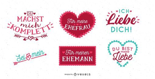 German Valentine's Day Lettering Design
