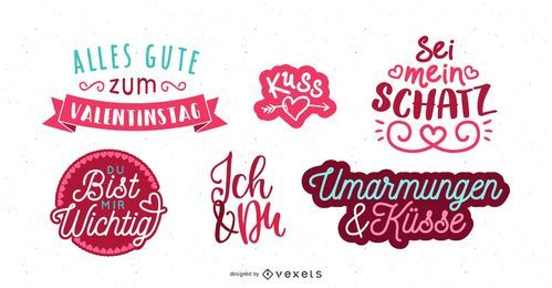 Valentine's Day German Greeting Design