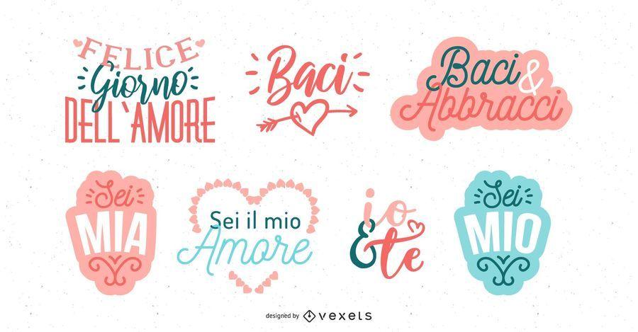 Italian Valentine's Day Lettering Design