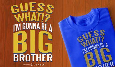 Diseño de camiseta de hermano mayor