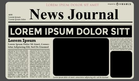 Design de modelo de diário de notícias
