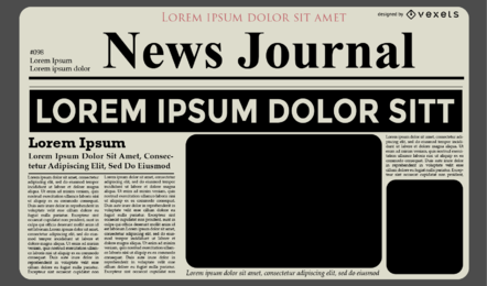 News Journal Template Design