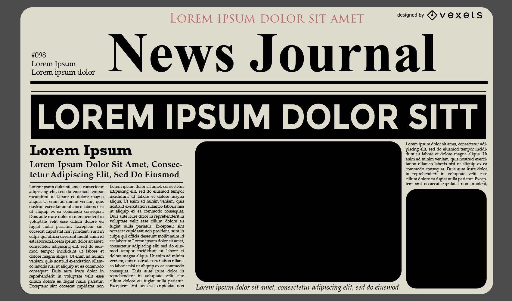 News Journal Template Design