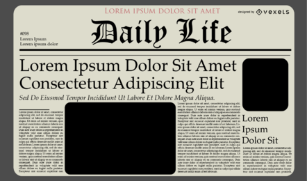 Newspaper Journal Template Design
