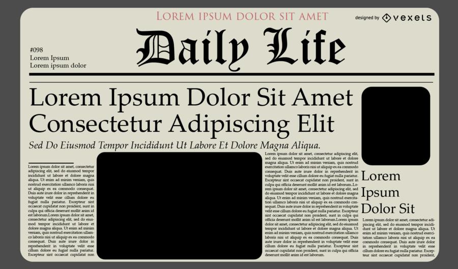 Design de modelo de jornal de jornal