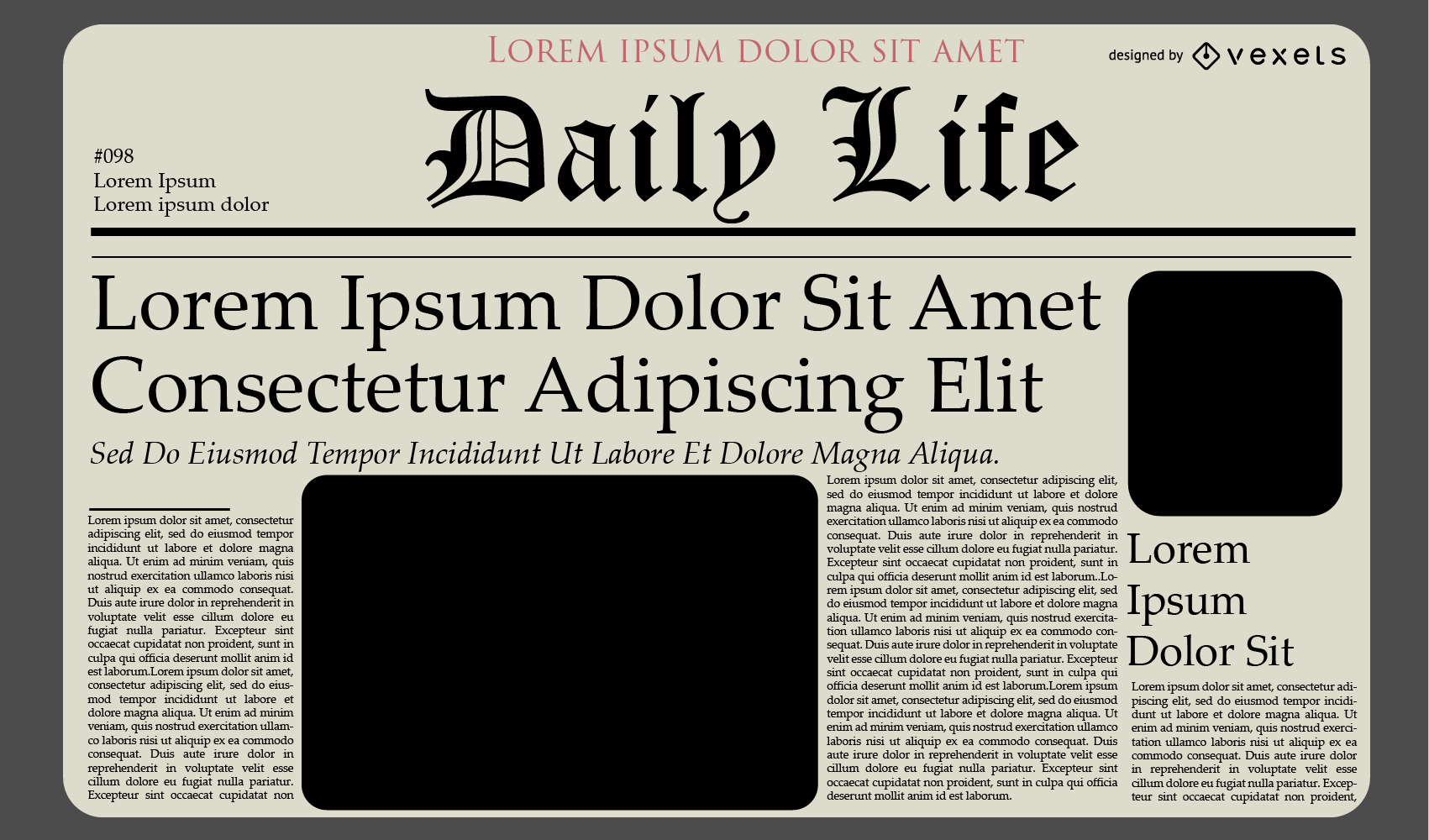 Newspaper Journal Template Design