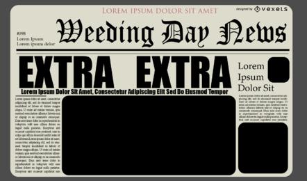 Design de layout de diário de jornal
