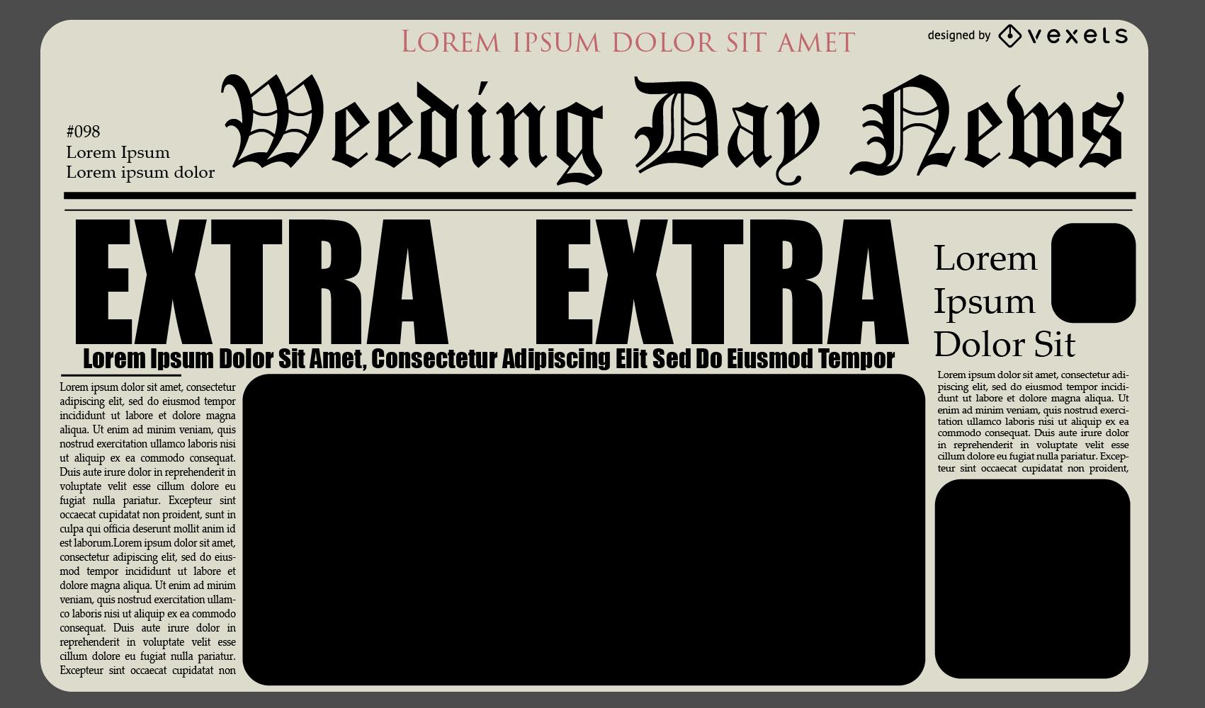 Diseño de diseño de diario de periódico