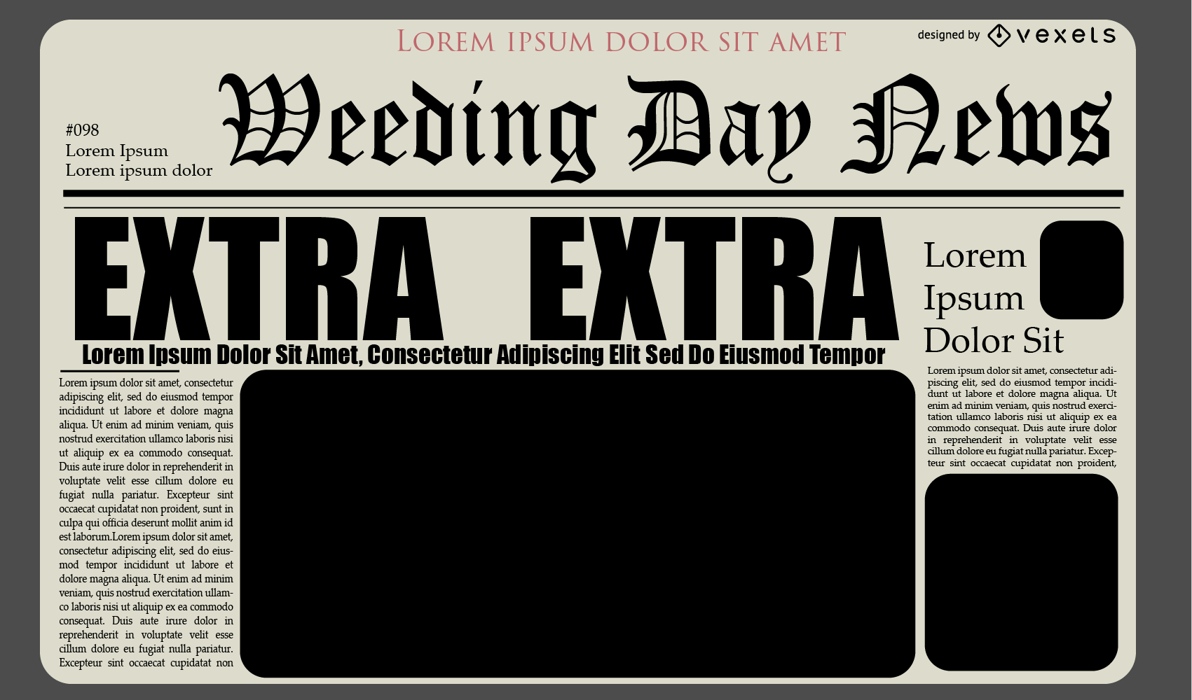 Newspaper Journal Layout Design