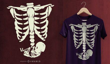 Diseño de camiseta de rayos x embarazada