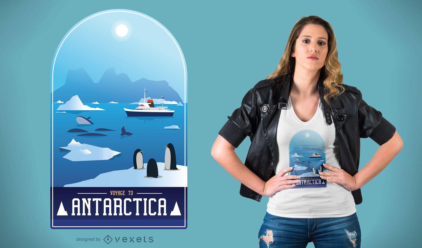 Diseño de camiseta de la Antártida