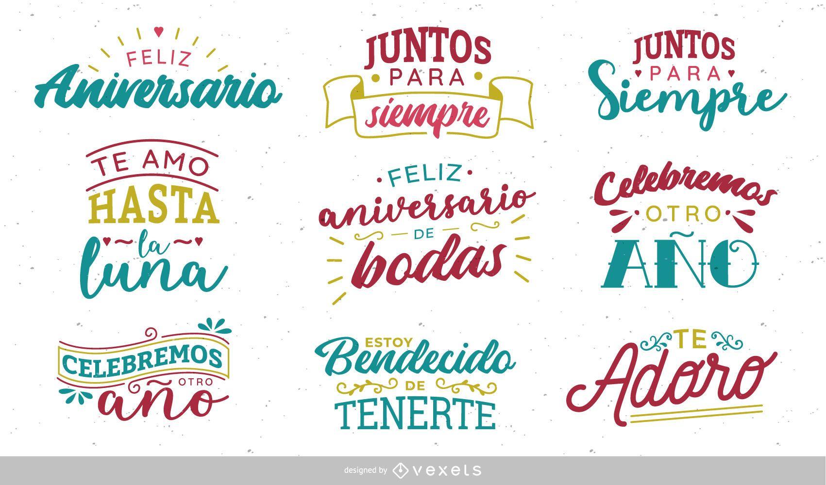 Feliz Aniversario En Espanol: Diseño De Letras Del Aniversario Español