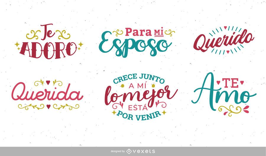 Set de letras españolas de aniversario