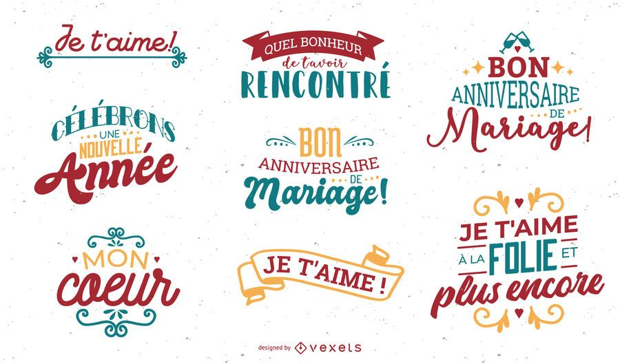 Valentine's Day French Lettering Set