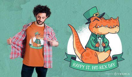 Diseño de camiseta de San Patricio T-Rex