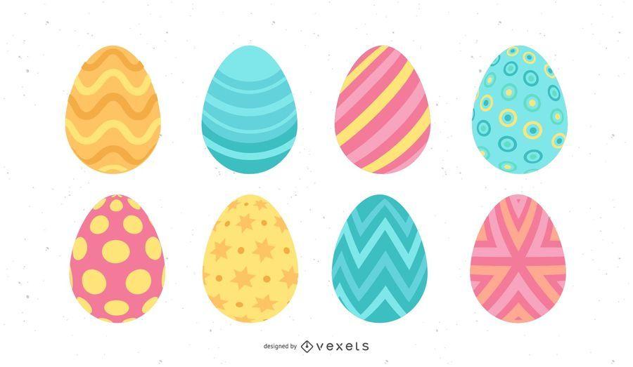 Huevo de Pascua de color pastel