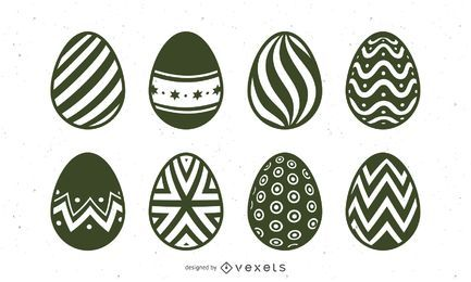 Hand Drawn Easter Egg Illustration Set