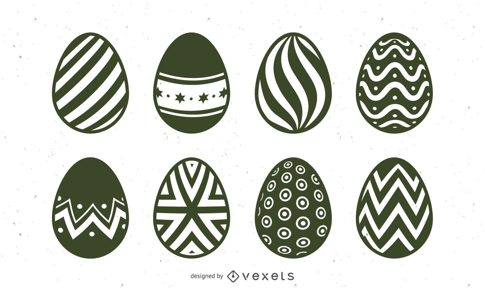 Hand Drawn Easter Egg Illustration Set