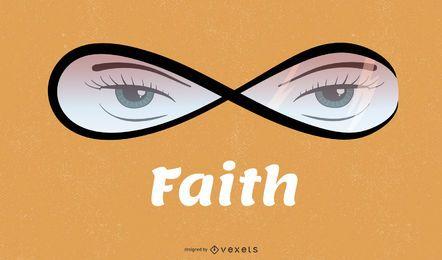 Ilustração de olhos de fé
