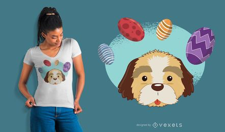 Design do t-shirt do cão de Easter