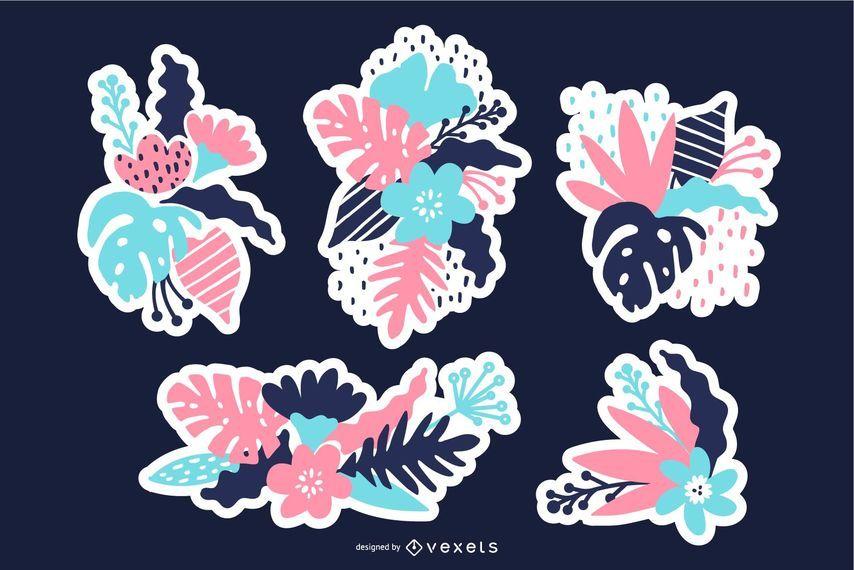Floral Patches Illustration Set