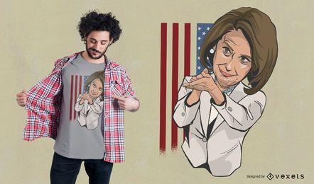 Nancy Pelosi aplaudiendo diseño de camiseta