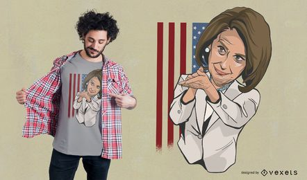 Nancy Pelosi klatschendes T-Shirt Design