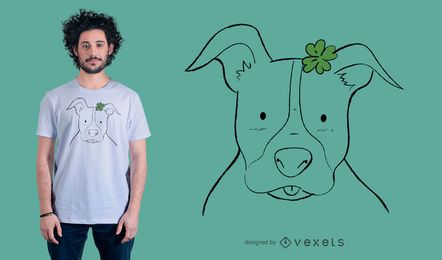 Projeto do t-shirt de Pitbull do Doodle