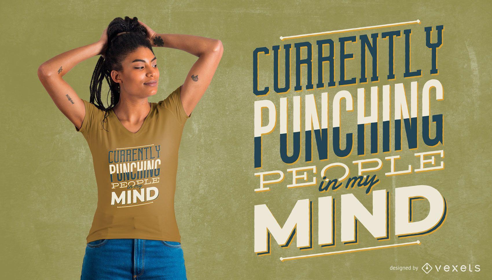 Design de camisetas para pessoas socando