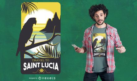 Santa Lucia Travel T-Shirt Design
