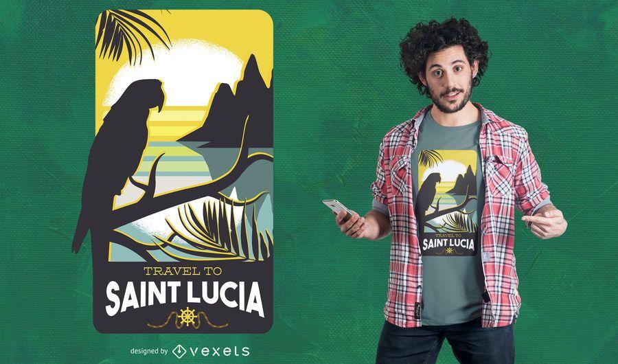 Diseño de camiseta de viaje de Santa Lucía