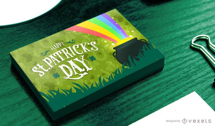 Diseño de tarjeta del día de San Patricio