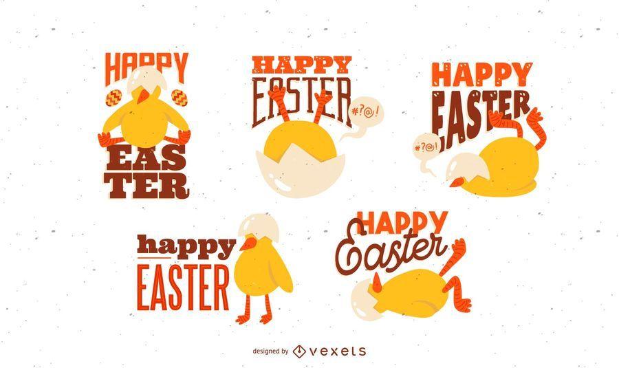 Easter Chick Lettering Design