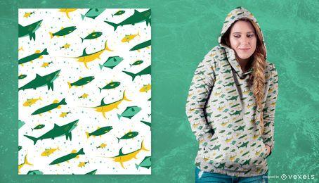 Design de padrão de peixe de pesca