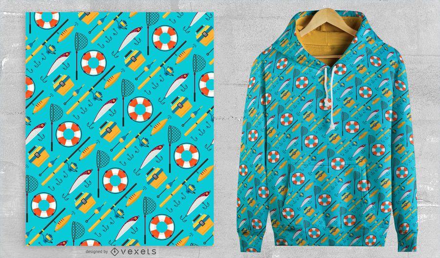 Diseño de patrón de pesca que va