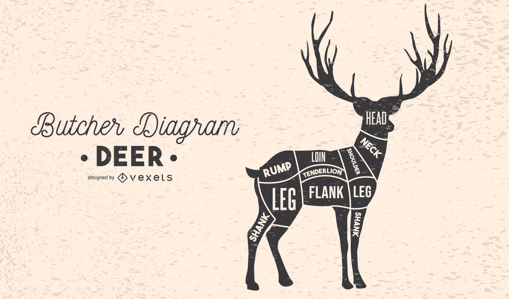 Deer Butcher Diagram
