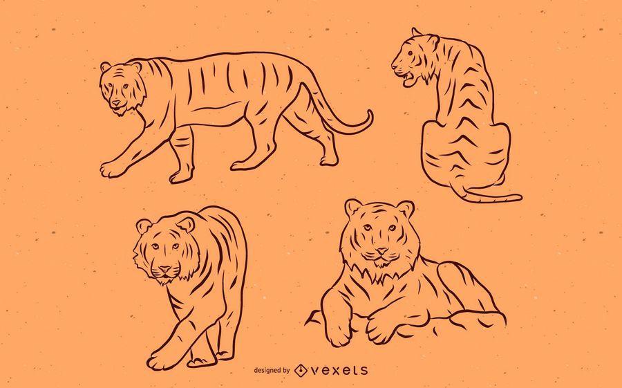 Tiger Stroke Set