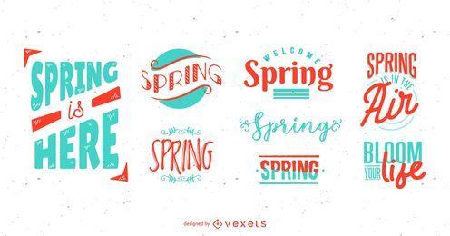 Conjunto de rotulação de temporada de primavera