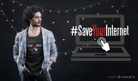 Ahorre su diseño de camiseta de Internet