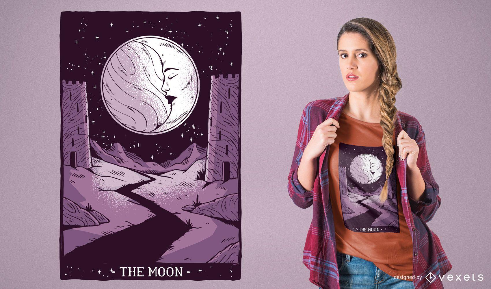 Moon Tarot Card T-Shirt Design